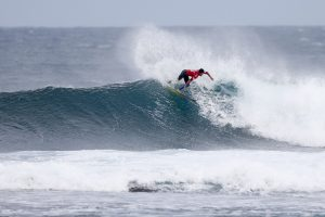 Italo Ferreira second during the semifinals at the Drug Aware Margaret River Pro in Western Australia.