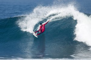 Filipe Toledo of Brazil advanced to the Quarterfinals after winning Heat 3 of Round Five at the Rip Curl Pro Bells Beach.