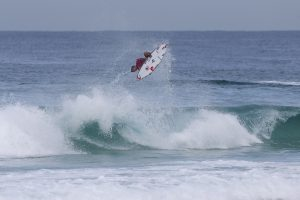 Gabriel Medina of BRasil (pictured) winning his round two heat with a PERFECT 10 at the Oi Rio Pro in Rio de Janeiro, Brasil on Wednesday May 11, 2016.