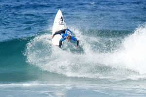 Men's Qualifying Series rankings leader Jesse Mendes of Brazil advances to Round Five of The Ballito Pro presented by Billabong after placing second in Heat 1 of Round Four at Wilard Beach, Ballito, South Africa.